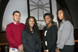 From left to right: Juan Diasgranados, Kayla Clough, Kristen James  and Alyssa Judd.