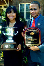 Mavis Baah and Jared Council, winners of the 2010 President's Award
