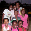 Posing with the girls after we played tag and handgames in Soweto, Johannesburg biggest and most 